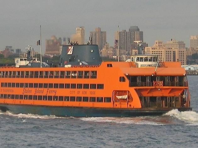 Cruise around on the Staten Island Ferry