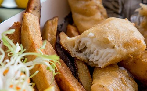 Stout-battered junk food at Beer & Fish