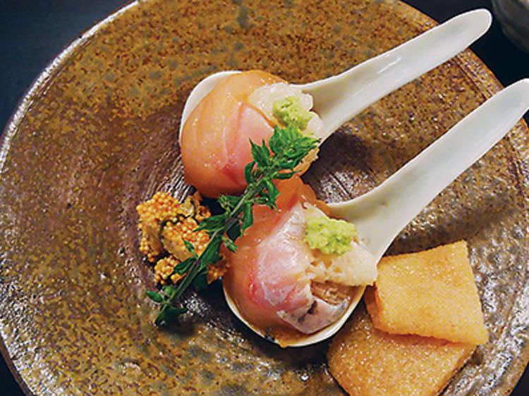 Kawahagi with liver (Godenya)