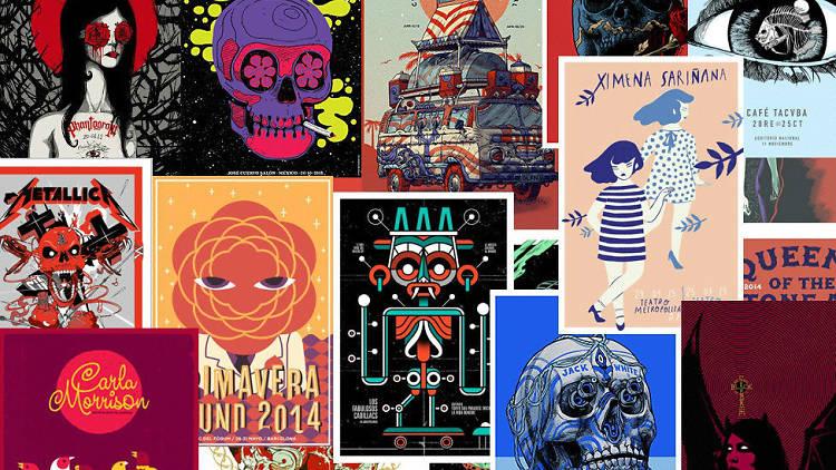 Mercadorama es el colectivo de diseñadores mexicanos que han hecho los carteles de festivales como Coachella y Primavera Sound