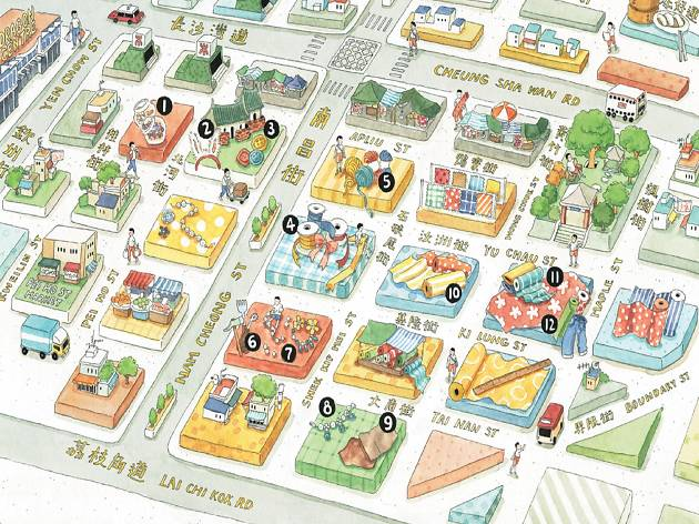 Sham Shui Po map illustration