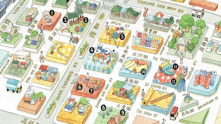 Sham Shui Po map illustration