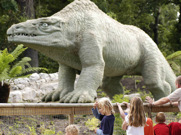 Square up to a stegosaurus in Crystal Palace Park