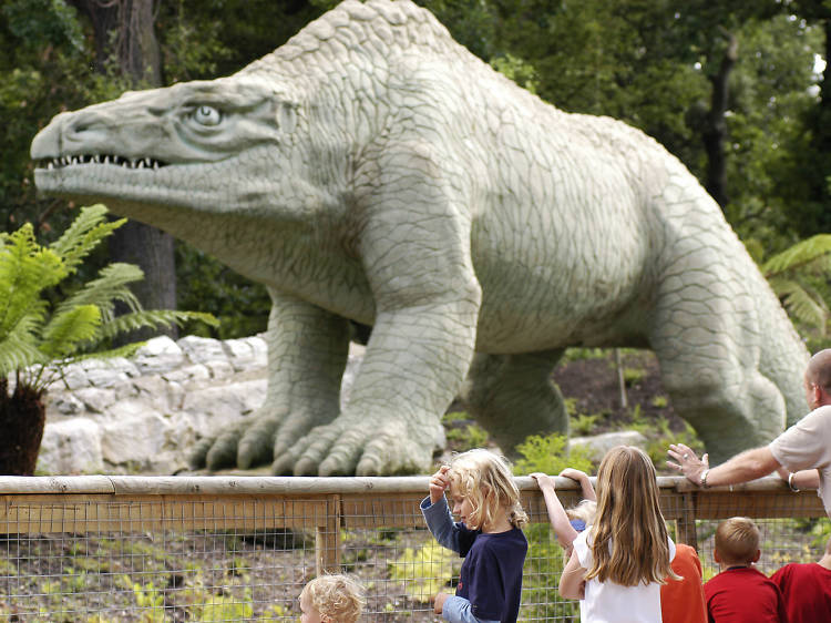 Encounter an Iguanodon in Crystal Palace Park