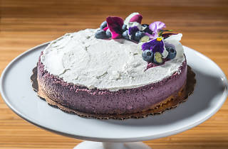 Purple cheesecake at Breads Bakery
