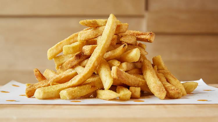 Jalapeño-dusted wedge fries at Fuku