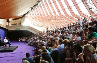 Audience listening to a talk at Sydney Opera House