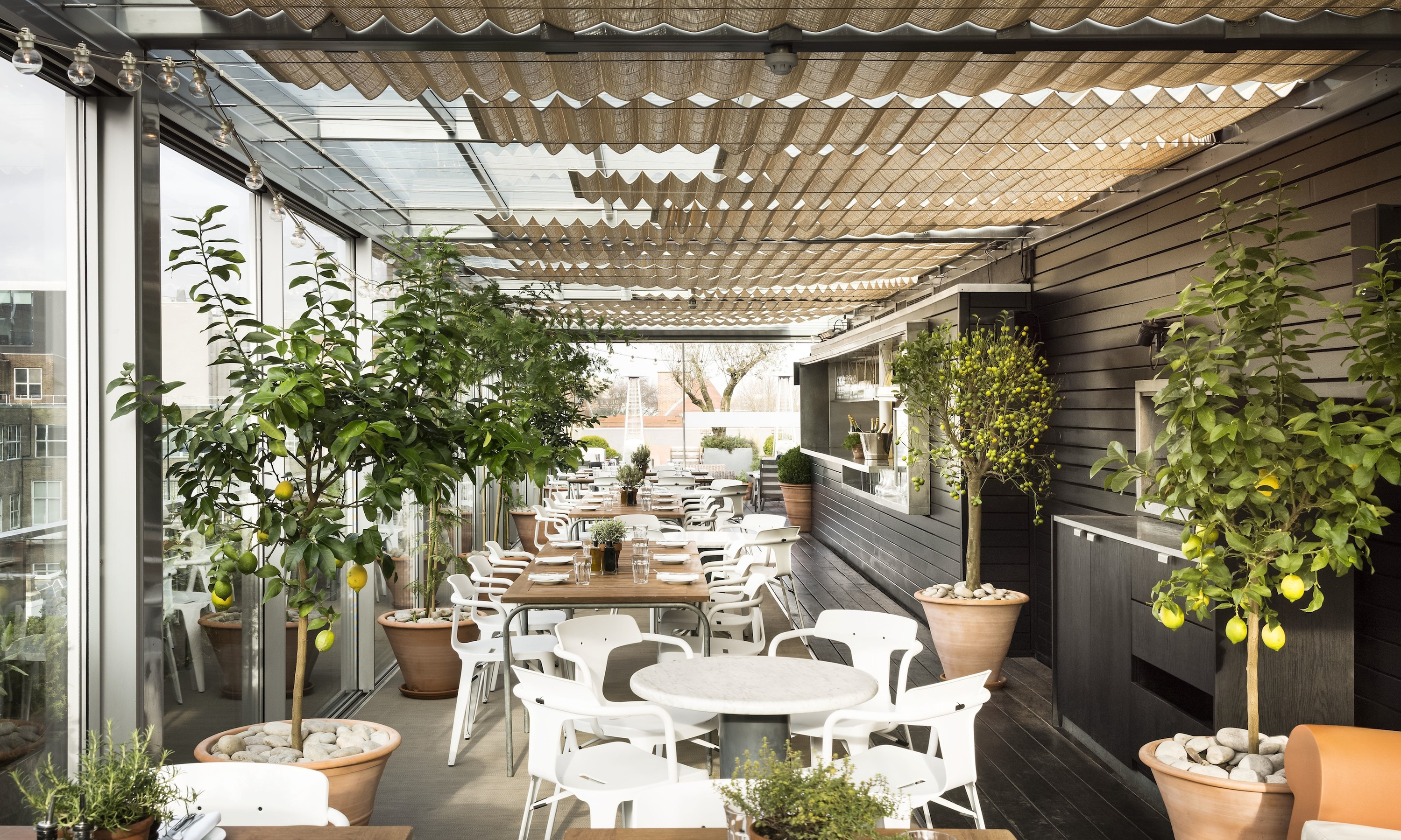 18 of the best rooftop restaurants in london for Restaurant with terrace