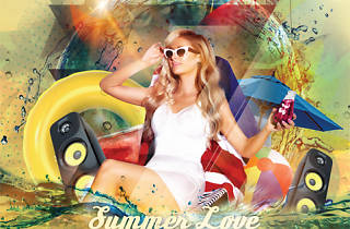 Summer Love Pool Party - poster