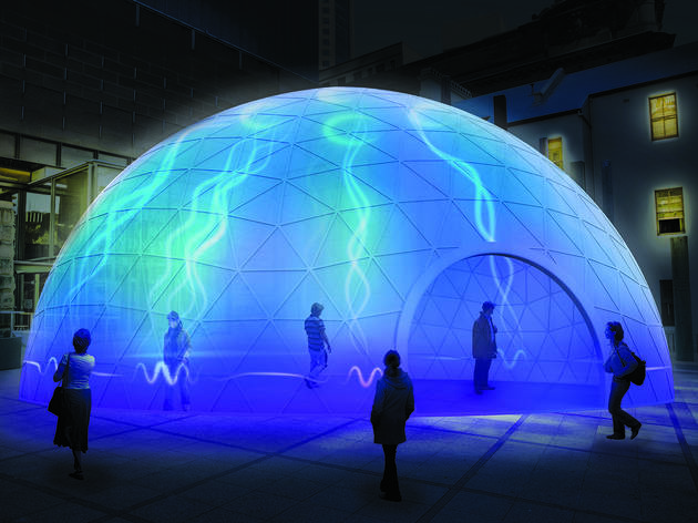 Artists' impression of Electric Jellyfish Installation