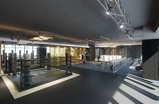 The interior of fight hard fitness gym