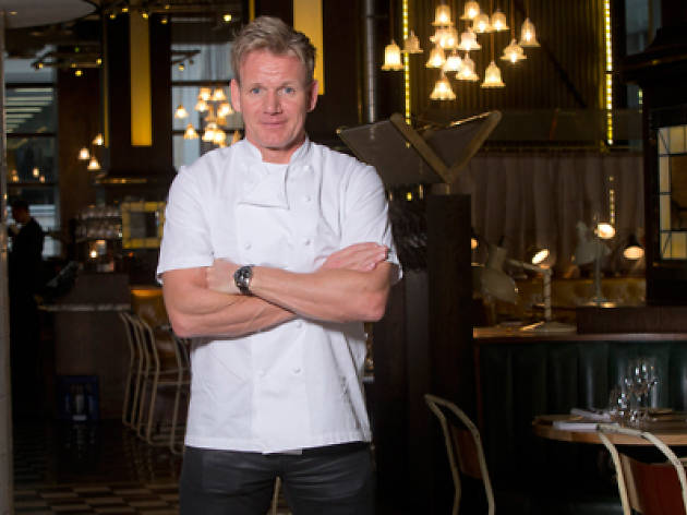 Gordon Ramsey standing in Bread Street Kitchen