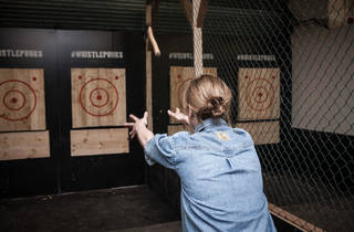 Finally: somewhere in London you can throw huge axes around