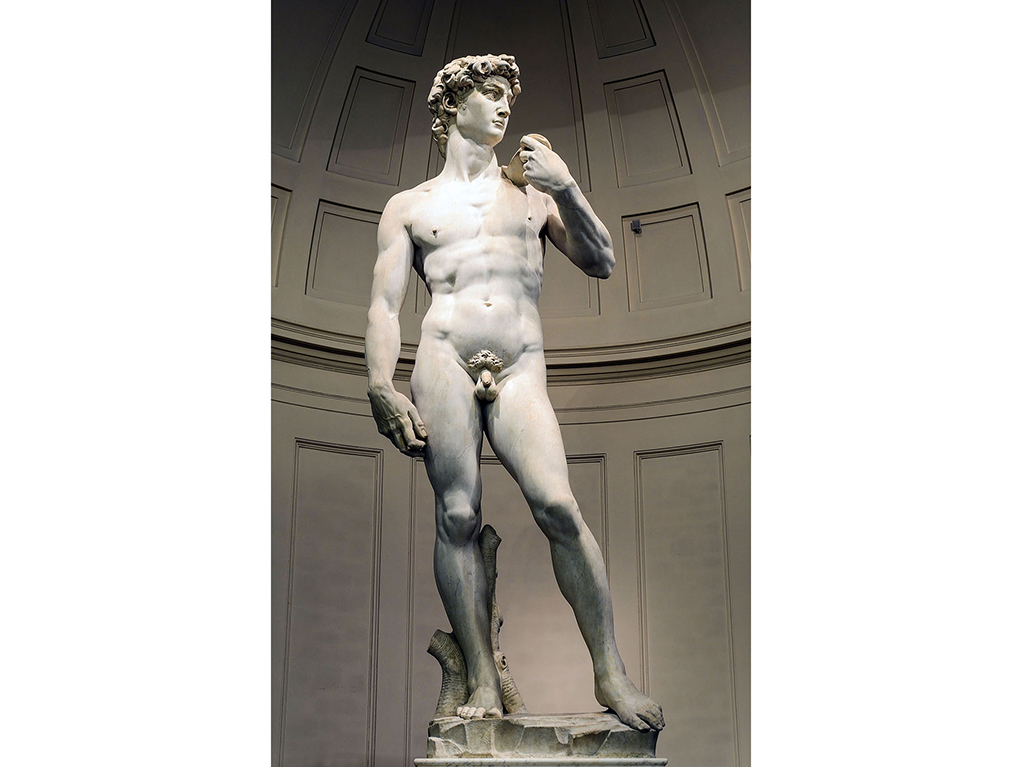 the sculptures and paintings of david