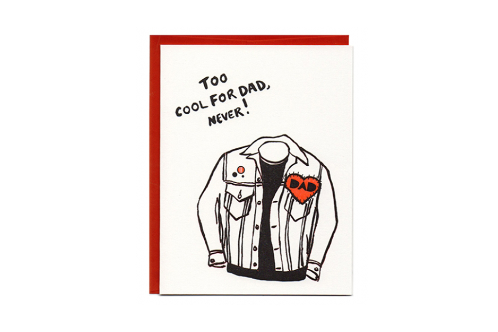 "Greenwich Letterpress ""Dad Jacket"" Father's Day card"