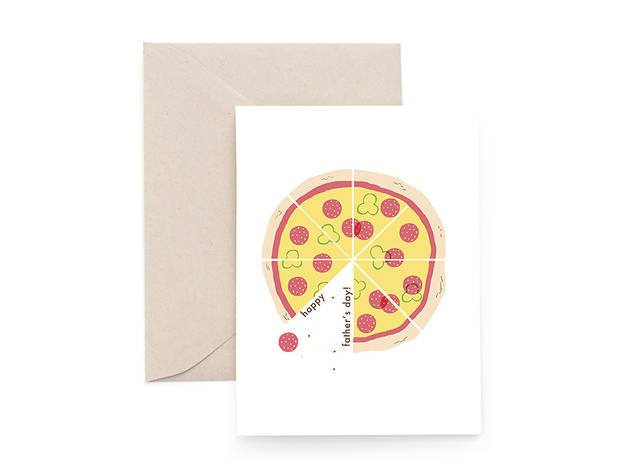 "Carolyn Suzuki Goods ""Pizza Party"" Father's Day card"