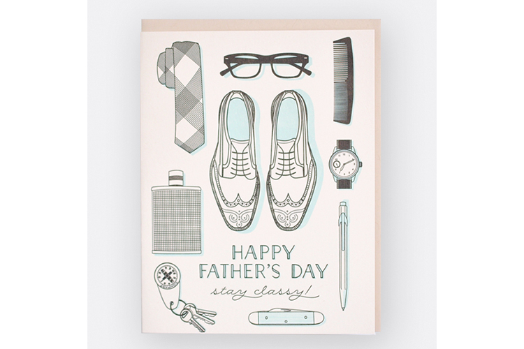 "Hello Lucky ""Dapper Dad"" Father's Day card"
