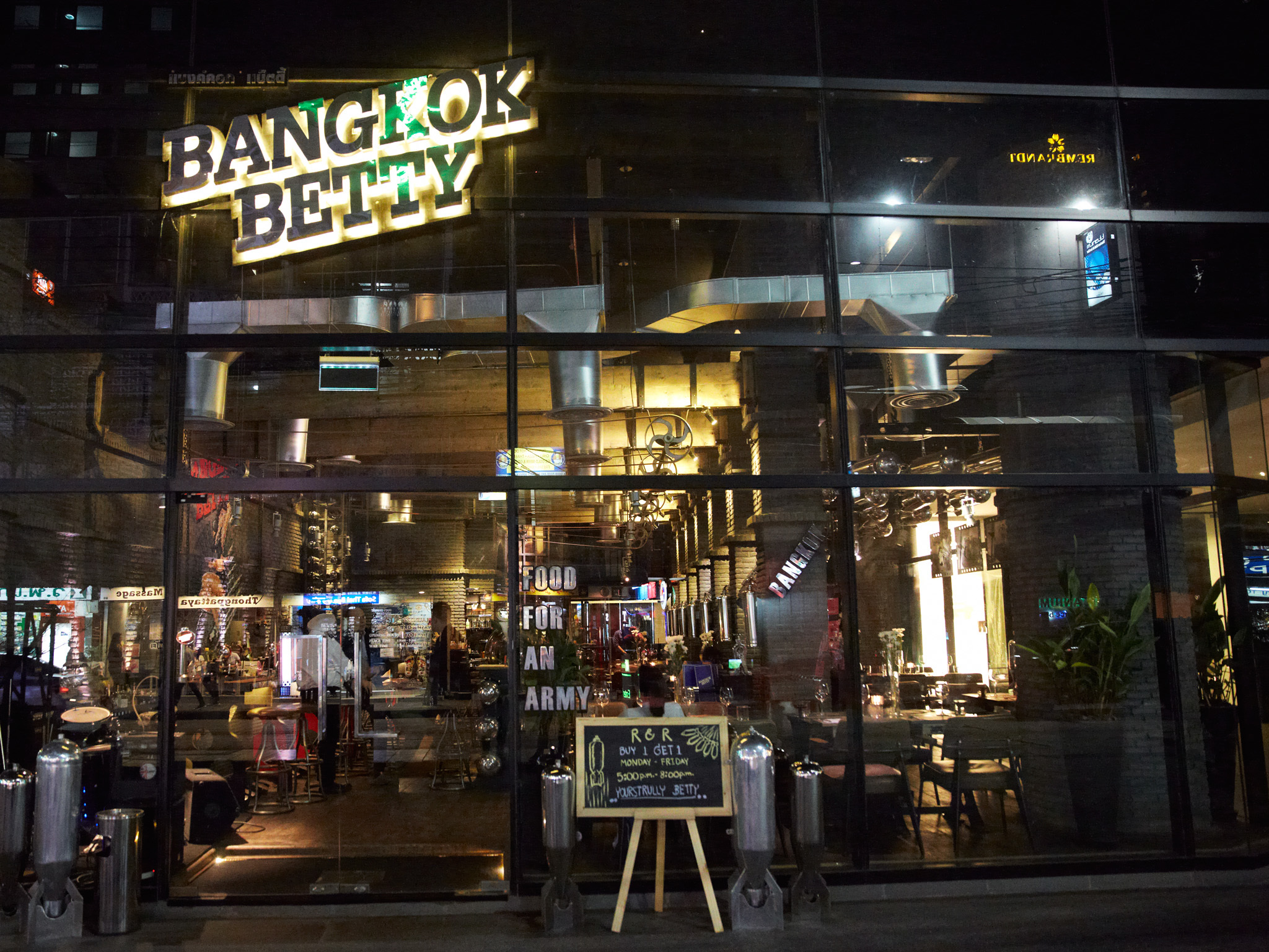 Bangkok betty is an unusual vintage themed bar and restaurant,