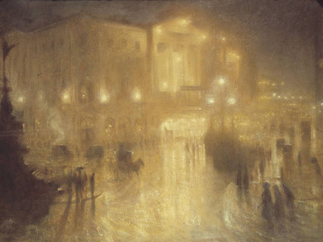 (Arthur Hacker: 'A Wet Night at Piccadilly Circus', 1910. © Royal Academy of Arts)