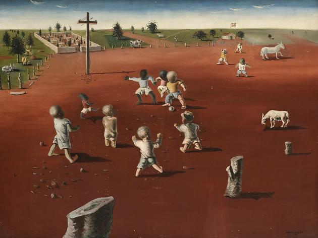 Obra de Portinari en la exposición Arte brasileño de la colecciión Fadel