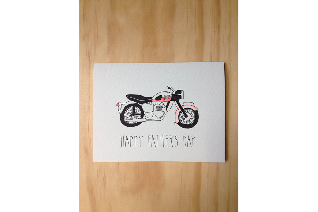 "Clementine Store ""Motorcycle"" Father's Day card"