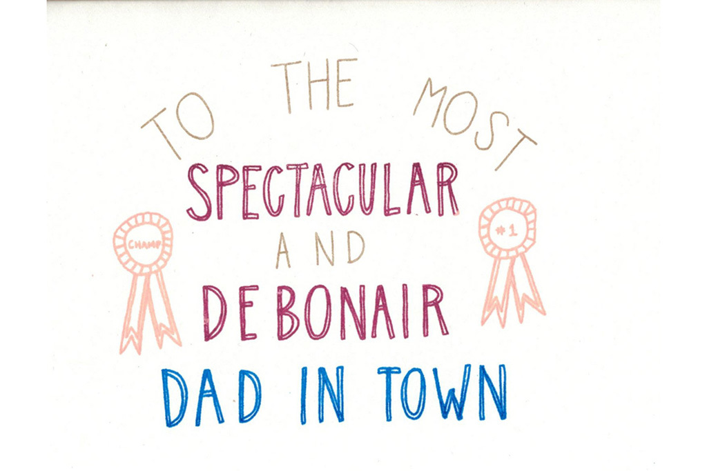 "The Great Lakes Goods ""Debonair Dad"" Father's Day card"