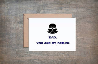"Crimson and Clover Gift ""Darth Vader Dad"" Father's Day card"