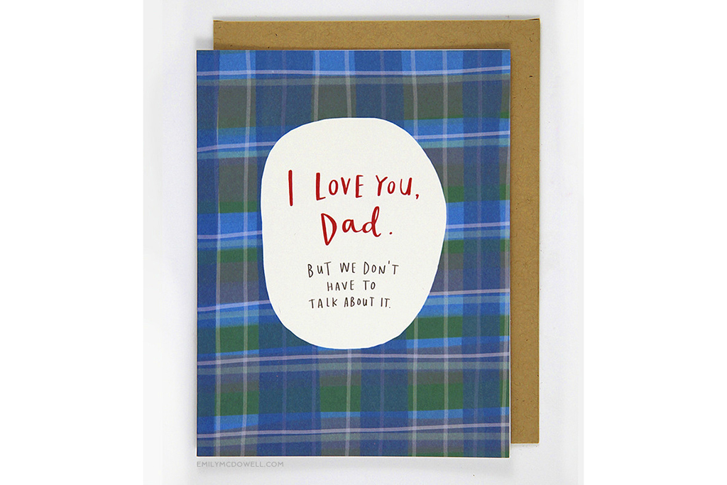 "Emily McDowell ""I Love You, Dad"" Father's Day card"