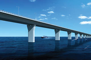Artist's rendering of the Hong Kong - Zhuhai - Macau Bridge