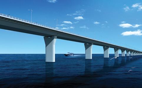 Artist's rendering of the Hong Kong - Zhuhai - Macau Bridge