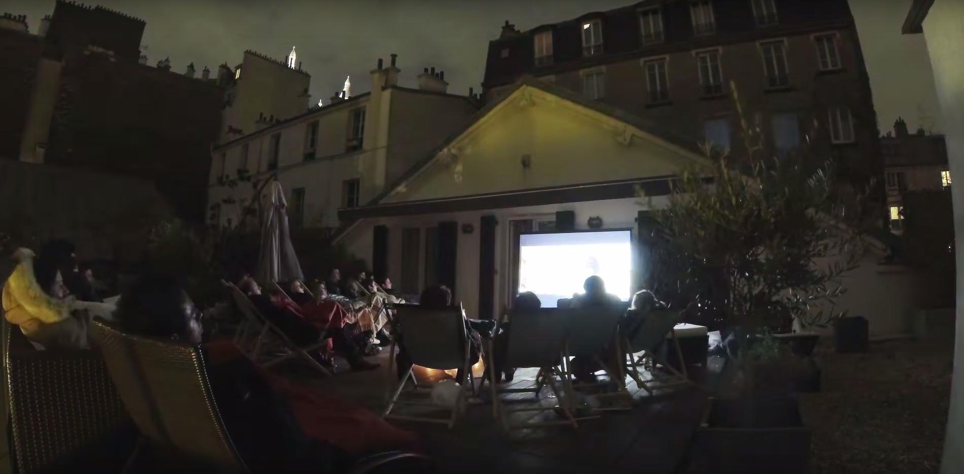 Un cinéma gourmet en plein air débarque à Paris