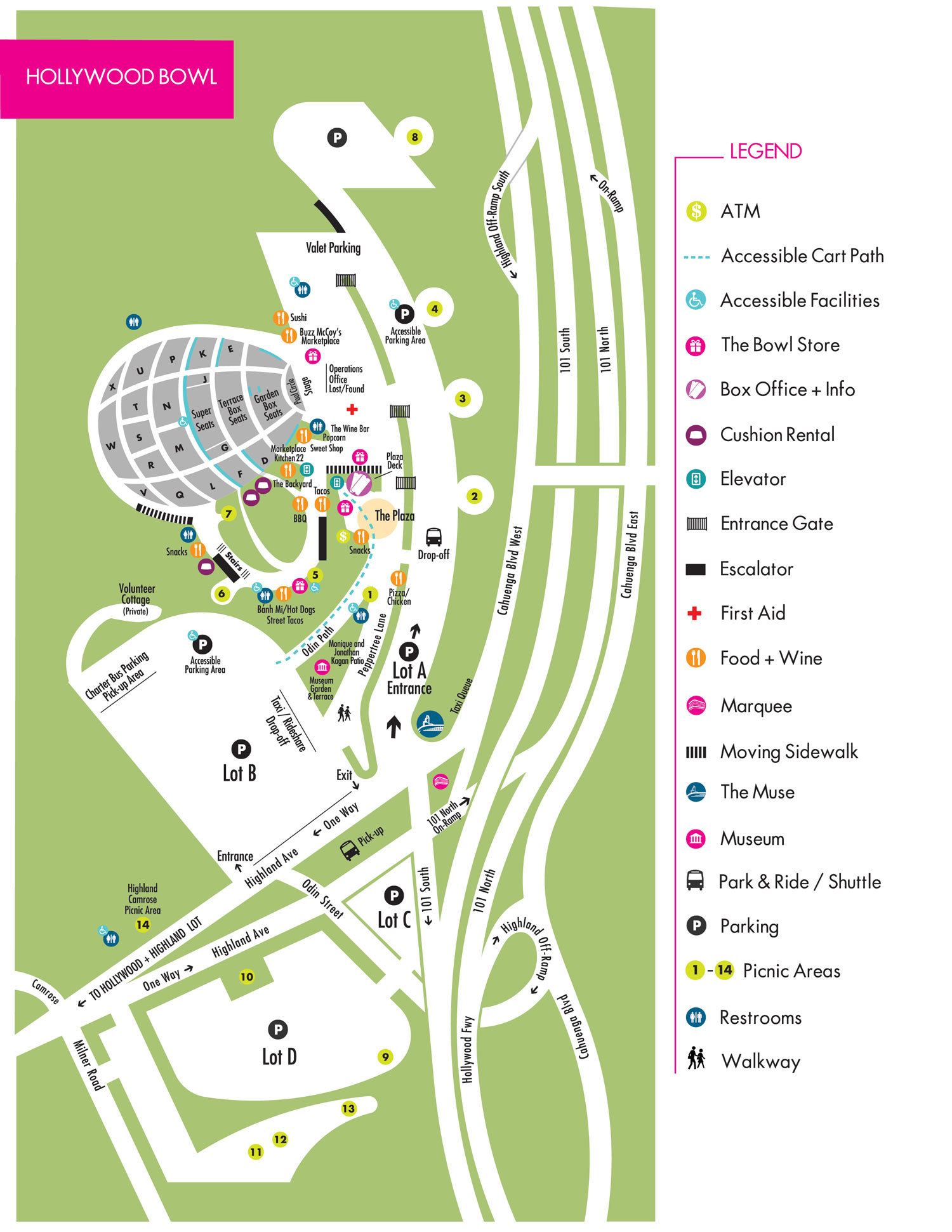 Here S A Helpful Map Of All The Picnic Spots Below
