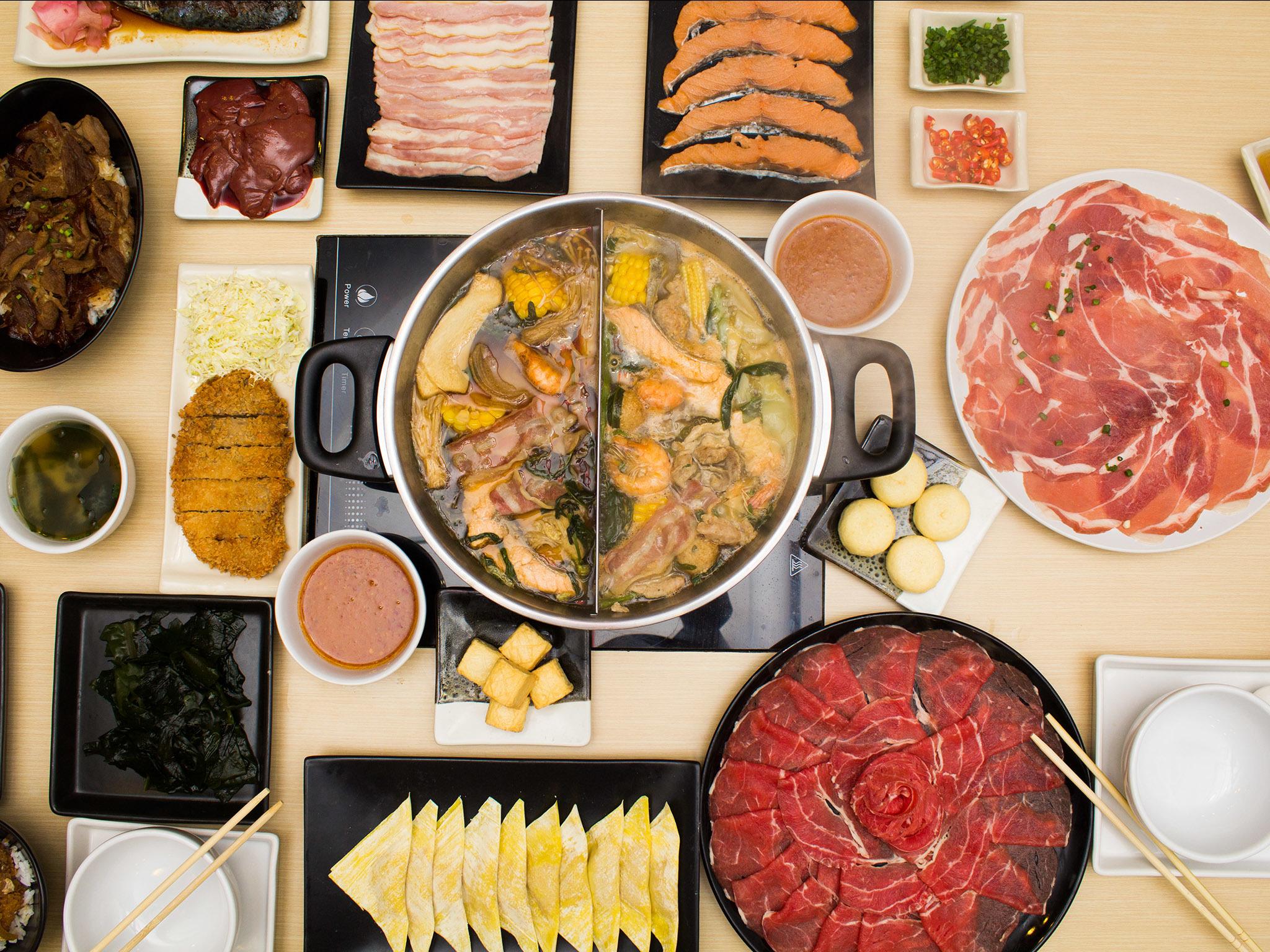 Shabu shabu styled buffet at Yukari Shabu Shabu