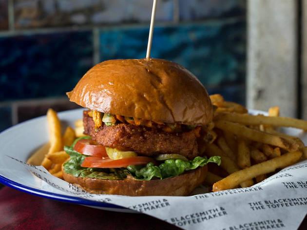 London's best veggie burgers, The Blacksmith and Toffeemaker