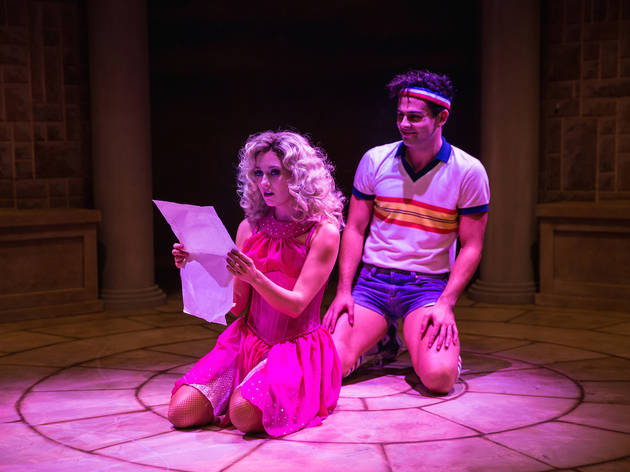 Xanadu The Musical 2016 Hayes Theatre production photo 03 feat Jaime Hadwen and Ainsley Melham photographer credit Frank Farrugia