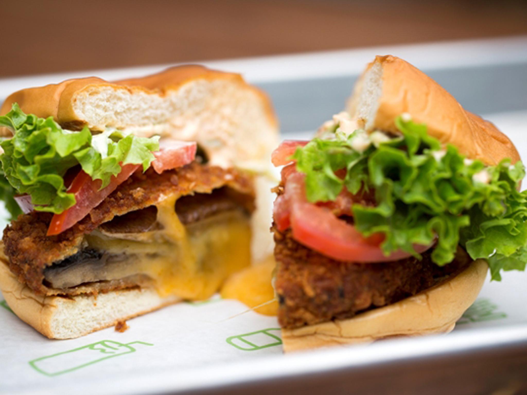 best veggie burgers in london, shake shack shroom burger