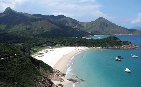 Aerial Shot of Tai Long Wan Beach