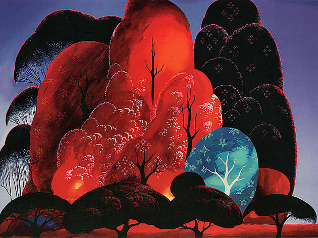 Eyvind Earle, Blazing Glory, 1989