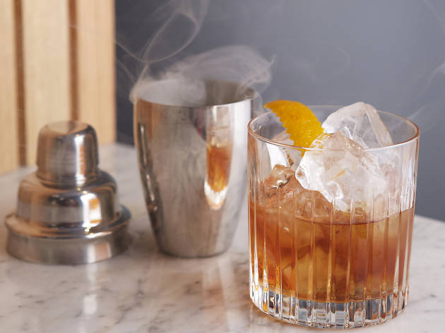 Smoked Old Fashioned at Old Tom & English