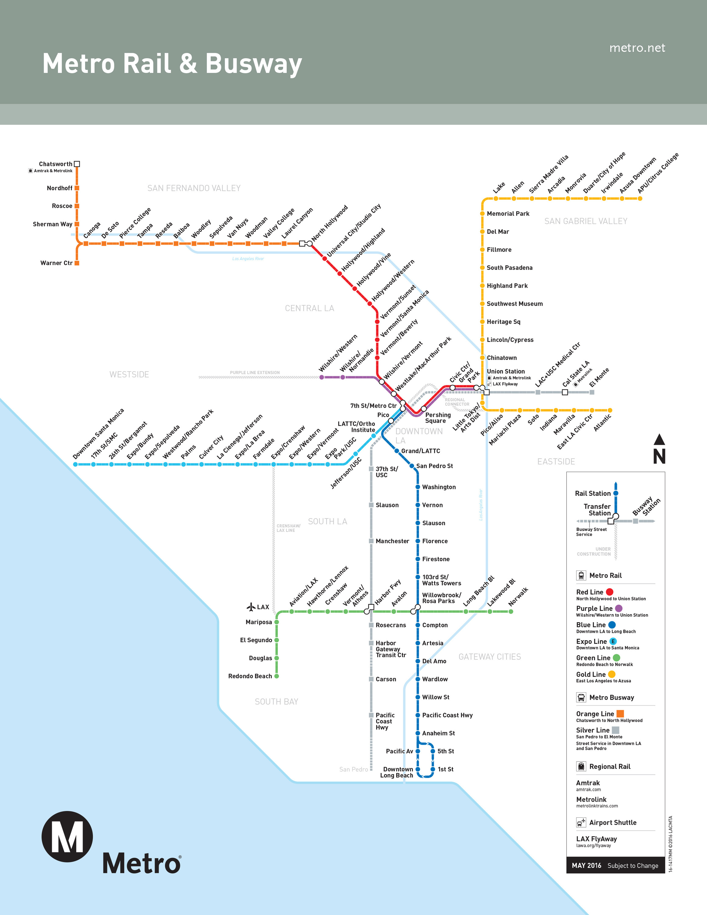 Subway Map La