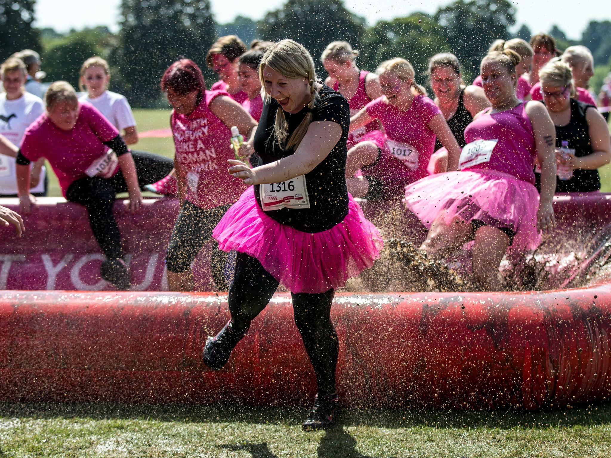 Run, splash and slide in Cancer Research UK's Pretty Muddy