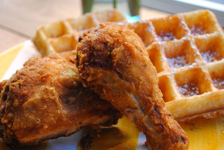 Chicken and waffles at Little Skillet