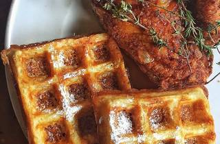 Chicken and waffles at Farmerbrown