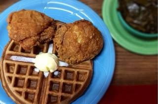 Chicken and waffles at Frisco Fried