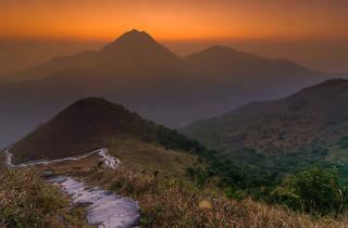sunset on the peak of sunset peak lantau