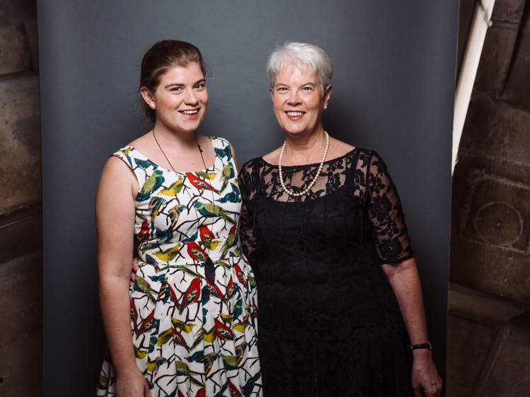 Megan (with her mum Fiona)