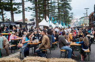 People eating at Taste of Manly