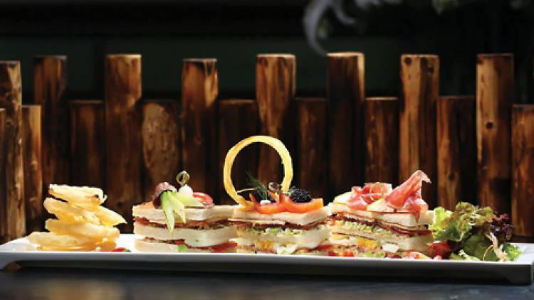 Wagyu caviar club sandwich