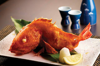 Fried robatayaki kinki fish