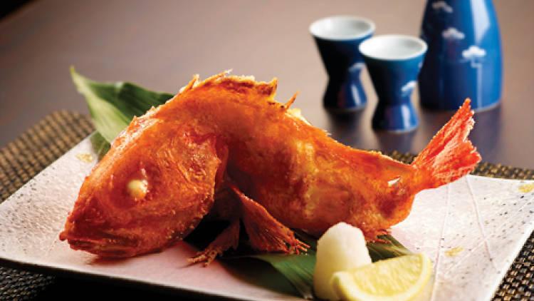 Fried robatayaki kinki fish